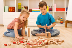 Little builders Stock Photography