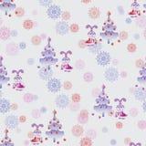 Little bunny decorates the Christmas tree. Stock Photo