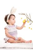 Little bunny girl Stock Photography