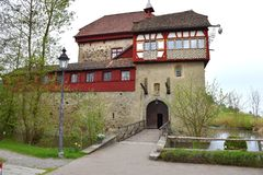 Little Burg in Switzerland - Kleine Burg in der Schweiz. Small, nice castle in Switzerland, on the shore of lake Constance - Kleine, schöne Burg in der Schweiz Stock Photo