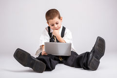 Little business boy Royalty Free Stock Photos