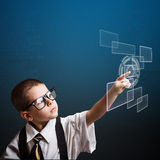 Little business boy Royalty Free Stock Images