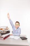 Little business boy showing success Stock Photos
