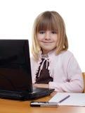 Little business girl Stock Photo