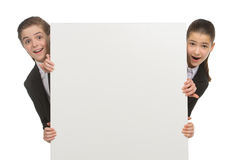 Little business kids. Stock Photography
