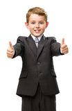 Little business man thumbs up Stock Photos