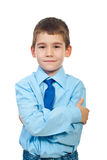 Little businessman with arms folded Stock Image