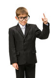 Little businessman attention gesturing Royalty Free Stock Photo