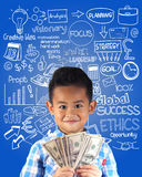 Little Businessman Dreaming Stock Photography