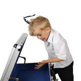 Little businessman with empty briefcase Royalty Free Stock Photography