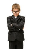 Little businessman with hands crossed Stock Image