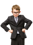 Little businessman with hands on hips Royalty Free Stock Photo