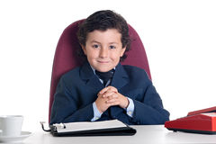 Little businessman in the office Royalty Free Stock Photography