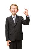 Little businessman okay gestures Royalty Free Stock Image