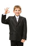 Little businessman okay gesturing Stock Images