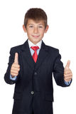 Little businessman saying Ok Stock Photo