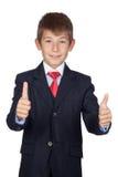 Little businessman saying Ok Stock Photo