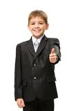 Little businessman thumbs up Royalty Free Stock Photos