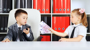 Little Businessmen Royalty Free Stock Image