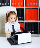 Little Businesswoman Royalty Free Stock Images