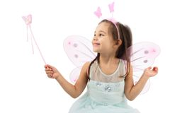 Little Butterfly Fairy Isolated On White Background Royalty Free Stock Image