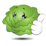 Little Cabbage. Little Kawaii Cabage isolated on white Stock Image