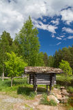 Little cabin in the woods Royalty Free Stock Photo
