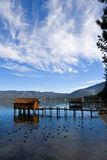Little cabins on the lake Royalty Free Stock Photo