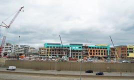Little Caesars Arena Construction. Little Caesars Arena, Detroit, Michigan USA - April 21, 2017: Construction site of new Little Caesars Stadium and concert Stock Image