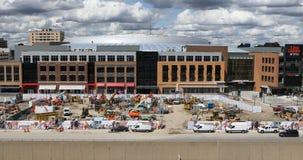 Little Caesars Arena in Detroit 4K. The Little Caesars Arena in Detroit 4K stock video