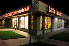 Little Caesars Pizza at night Stock Image