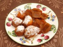 Little cakes with plums Stock Images
