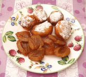 Little cakes with plums Stock Photo