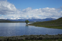 Little Camas Reservoir, Idaho. Little Camas Reservoir in the spring. It is located in Elmore County, Idaho Royalty Free Stock Image