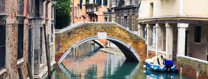 Little canal in Venice. Italy Stock Photos