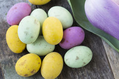 Little Candy Easter Eggs Stock Photos
