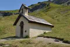 Little capel in the French Alps Stock Image