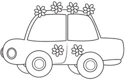 Little Car Illustration Stock Photos