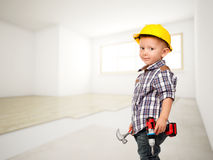 Little carpenter Royalty Free Stock Images