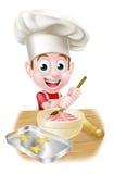 Little Cartoon Boy Baking Royalty Free Stock Photos
