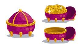 Little cartoon casket Royalty Free Stock Image