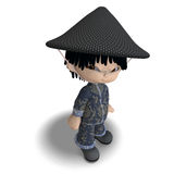 Little cartoon china boy is so cute and funny Stock Images