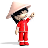 Little cartoon china boy is so cute and funny. 3D Stock Images
