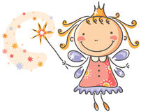 Little cartoon fairy Royalty Free Stock Photo