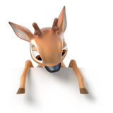 Little cartoon fawn Royalty Free Stock Images