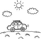 Little cartoon funny vector car Royalty Free Stock Photography