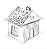 Little cartoon house Stock Image