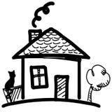 Little cartoon house Royalty Free Stock Photography