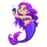 Little cartoon mermaid Royalty Free Stock Photography