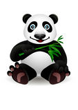 Little cartoon panda and bamboo Royalty Free Stock Photos